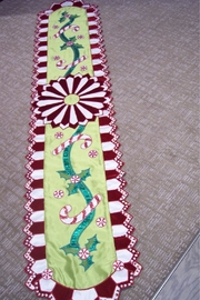 Katherine's Collection Peppermint Table Runner - Front cropped