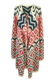 Katherine Barclay Aztec Swing Cardi - Front cropped