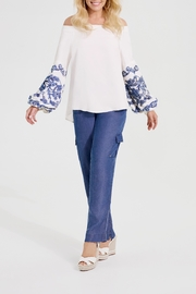 Katherine Barclay Embroidered Boho Blouse - Front cropped