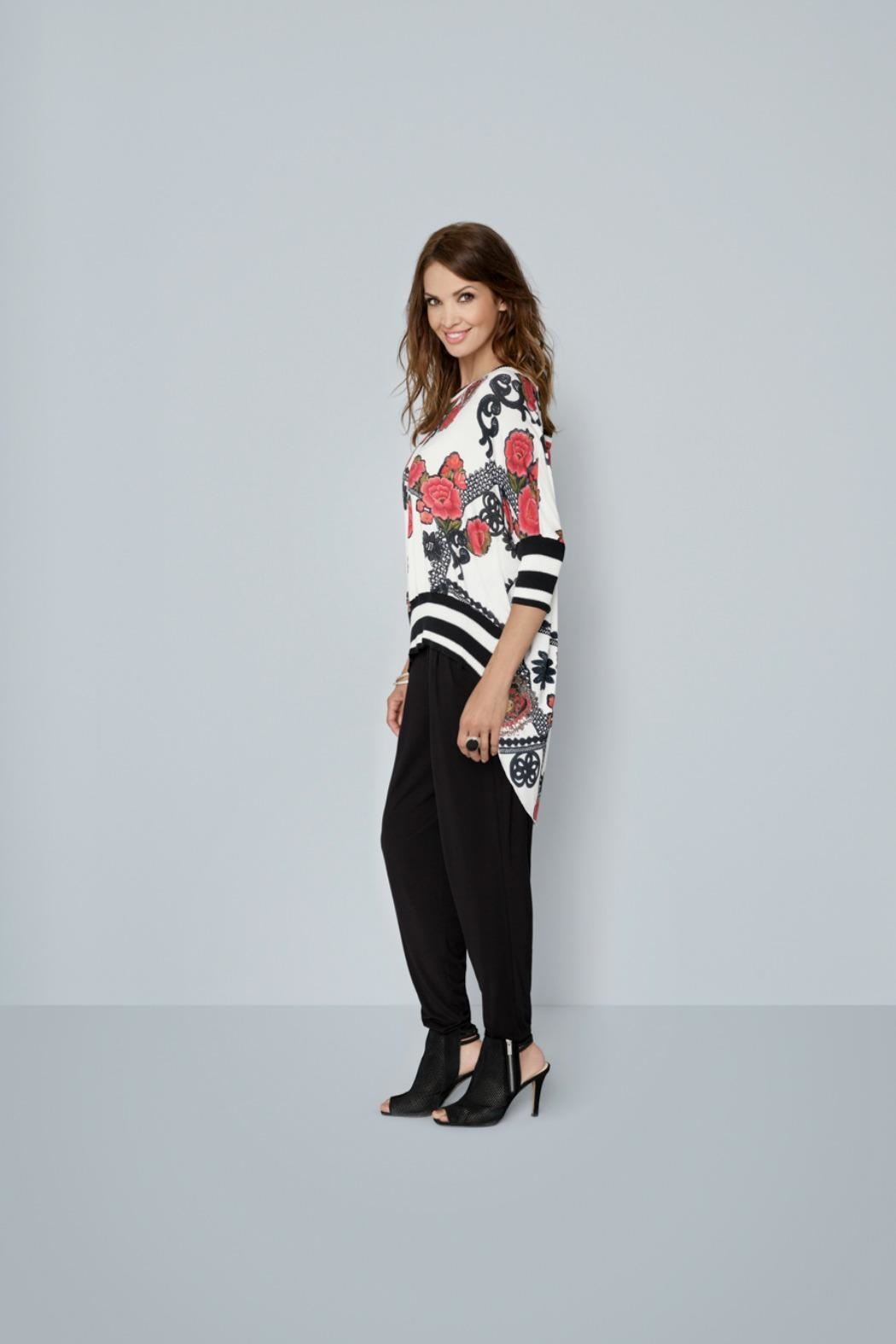 Katherine Barclay Floral Coral Top - Main Image