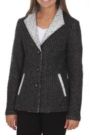 Katherine Barclay Grey Woven Jacket - Front cropped