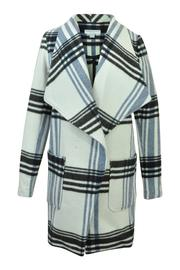 Katherine Barclay Plaid Pea Coat - Product Mini Image