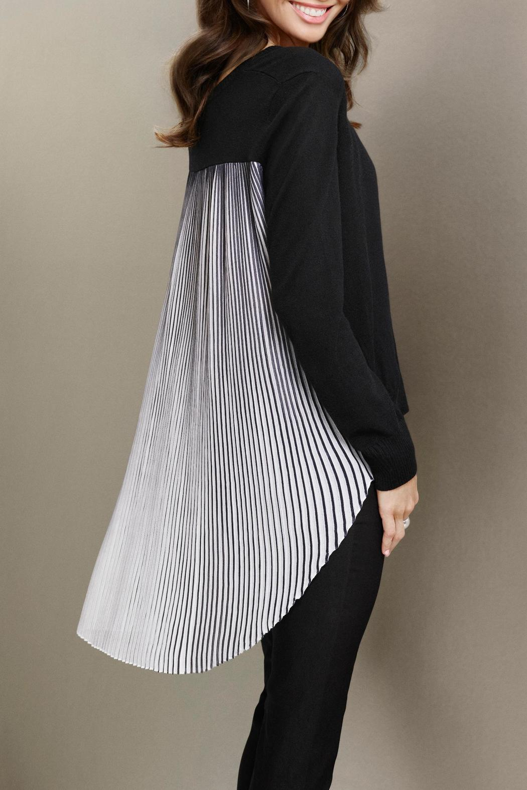 Katherine Barclay Pleated Swing Sweater - Main Image