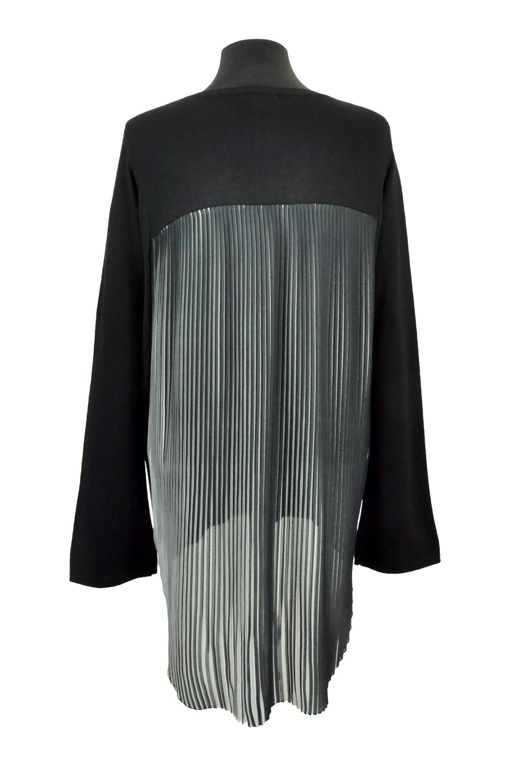 Katherine Barclay Pleated Swing Sweater - Side Cropped Image