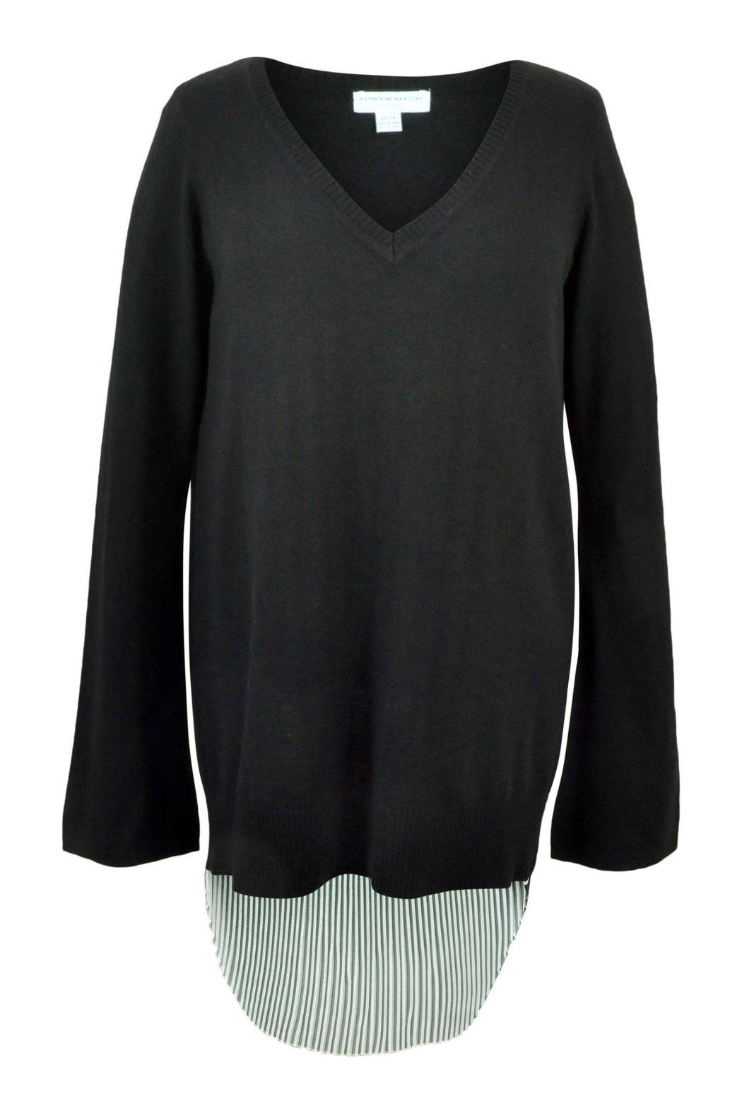 Katherine Barclay Pleated Swing Sweater - Front Full Image