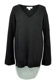 Katherine Barclay Pleated Swing Sweater - Front full body