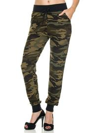 Kathy Camo Print Joggers - Front cropped