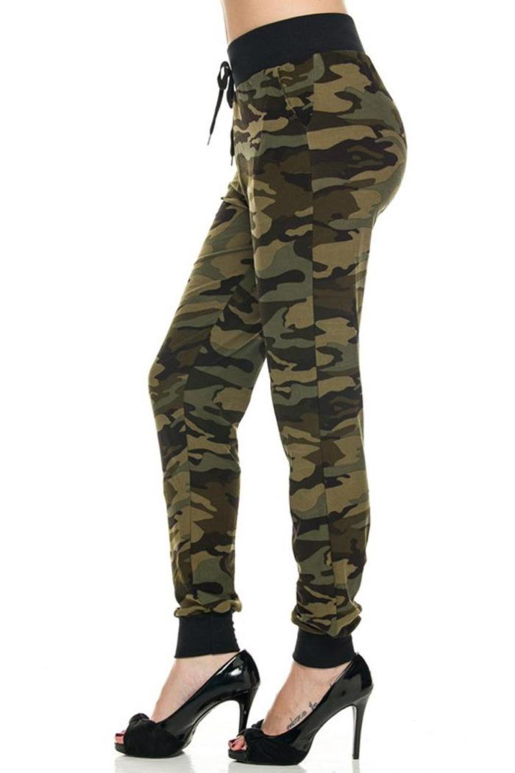 Kathy Camo Print Joggers - Front Full Image