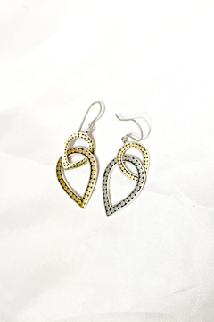 Shoptiques Product: Double Teardrop Earrings