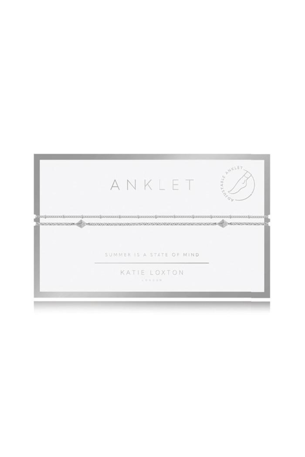Katie Loxton Double Chain Anklet - Front Cropped Image