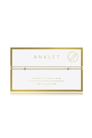 Katie Loxton Double Chain Anklet - Front cropped