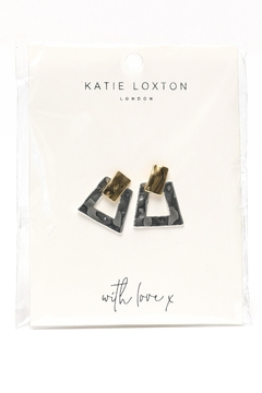 Katie Loxton Hammered Two Tone Earrings - Alternate List Image