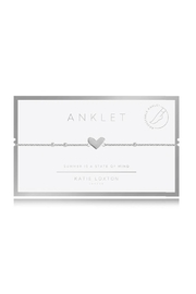 Katie Loxton Heart Anklet - Front cropped