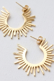 Katie Waltman Sun-Silhouette Hoop Stud-Earrings - Product Mini Image