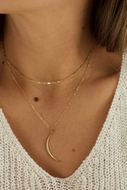 Katie Waltman Thin-Brass Crescent Necklace - Front full body