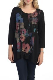 Katina Marie Black Floral Tunic - Product Mini Image