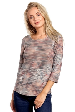 Katina Marie Muted Stripe Top - Alternate List Image