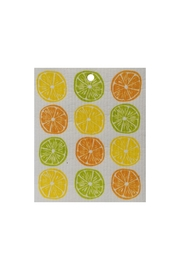 Kattinatt Swedish Washtowel Citrus - Front cropped