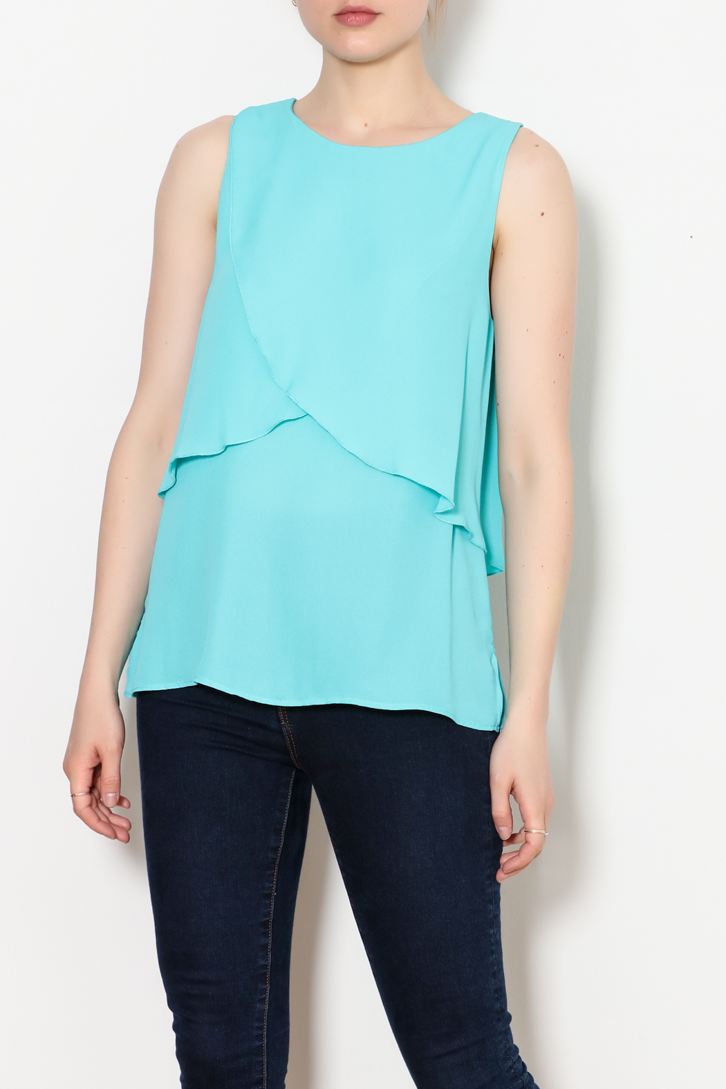 Kay Celine Charlotte Layered Top - Front Cropped Image