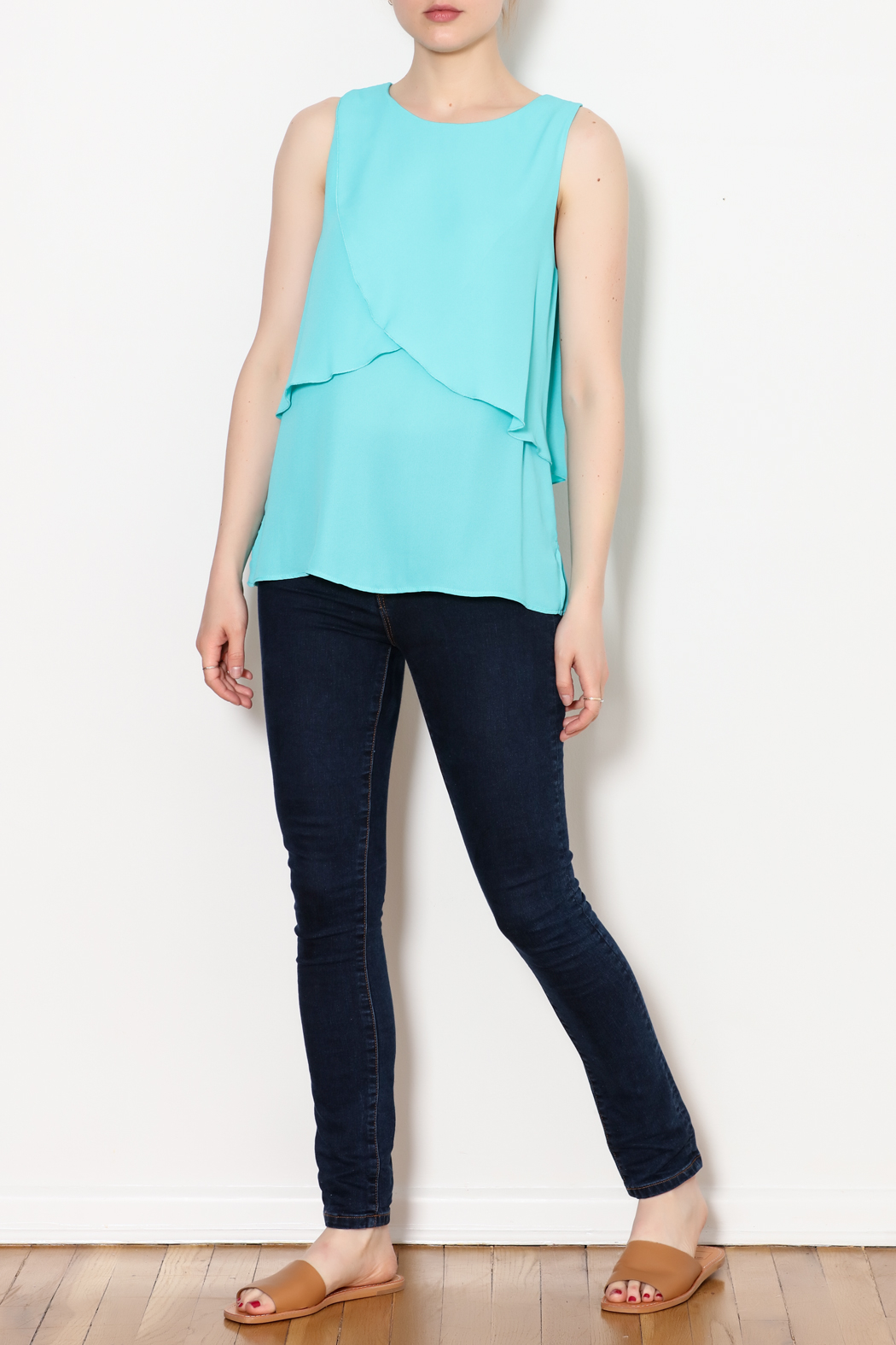 Kay Celine Charlotte Layered Top - Side Cropped Image