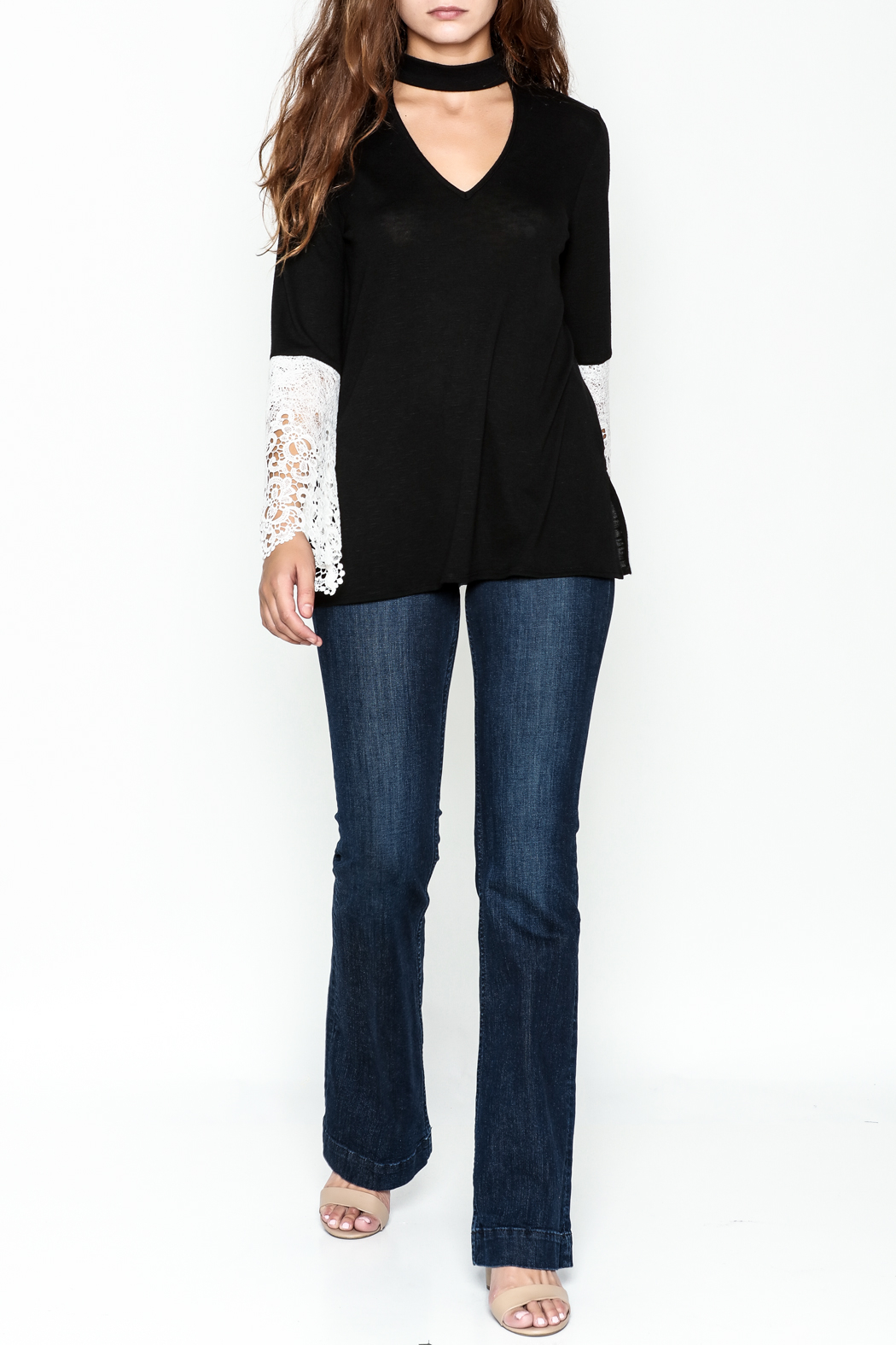 Kay Celine Danielle Cut Out Top - Side Cropped Image