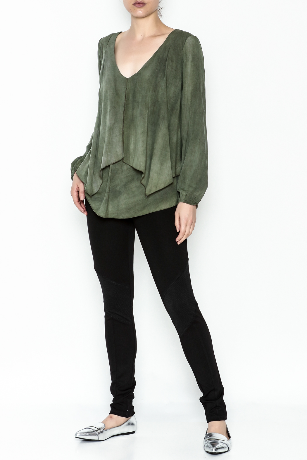 Kay Celine Darcy Double Layer Blouse - Side Cropped Image