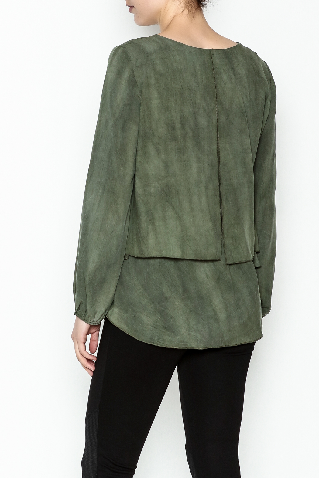 Kay Celine Darcy Double Layer Blouse - Back Cropped Image