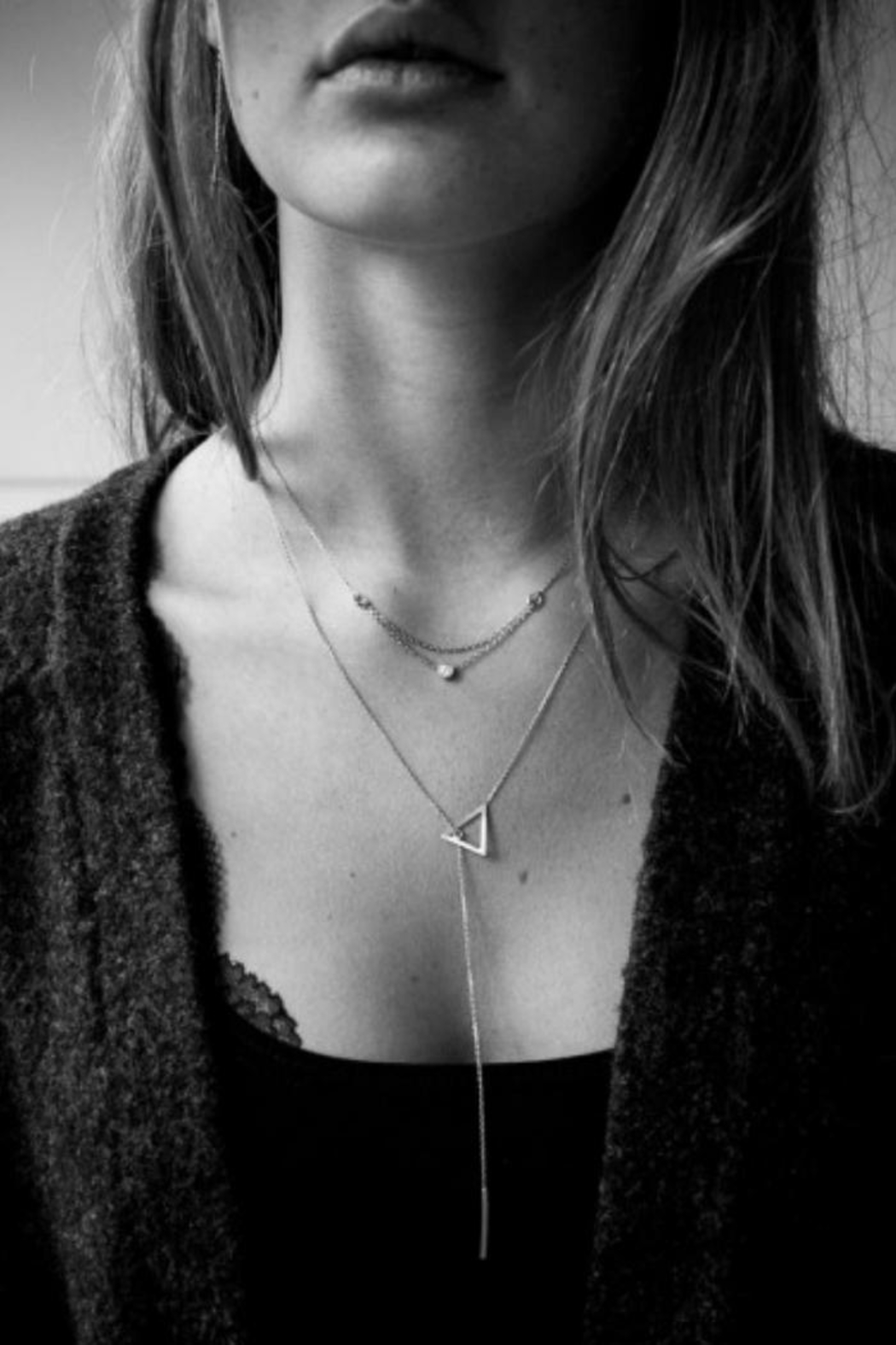 Maison Irem Kay Triangle Necklace - Front Full Image