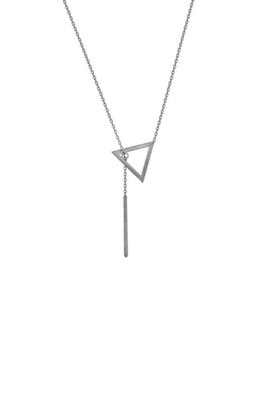Maison Irem Kay Triangle Necklace - Front Cropped Image