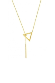 Maison Irem Kay Triangle Necklace - Front cropped