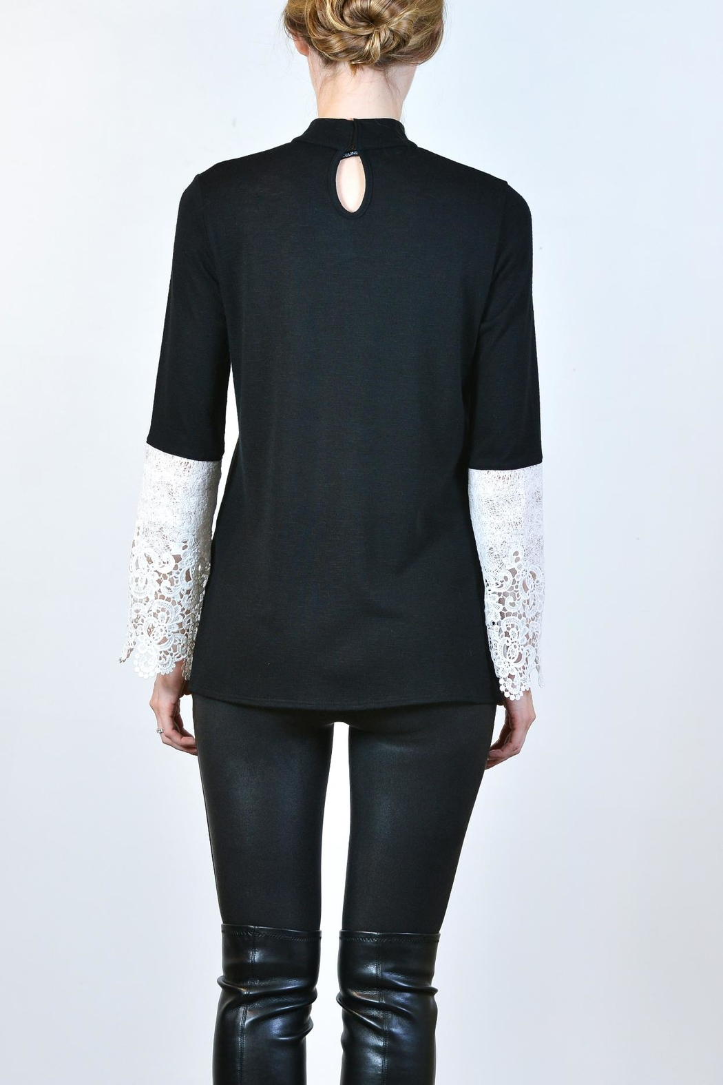 Kay Celine Lace Arm Top - Front Full Image