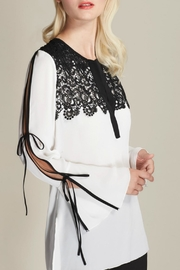 Kay Celine Lace Bib Blouse - Product Mini Image
