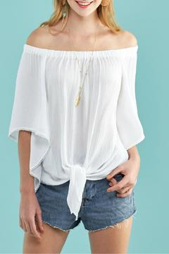 Shoptiques Product: Tie Front Top