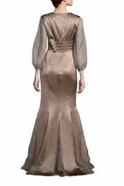 Kay Unger New York Sheer Sleeve Gown - Front full body