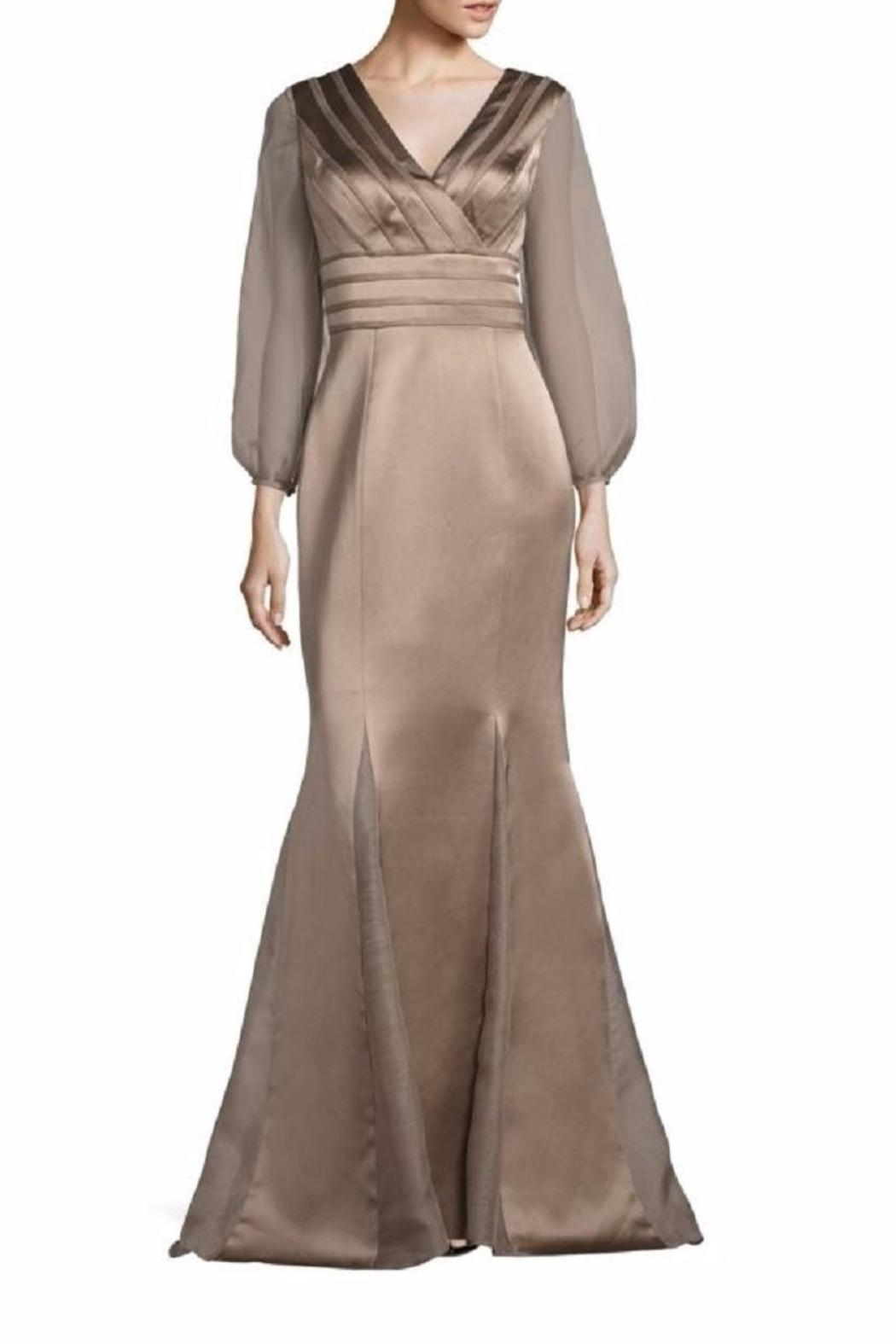 Kay Unger New York Sheer Sleeve Gown - Main Image