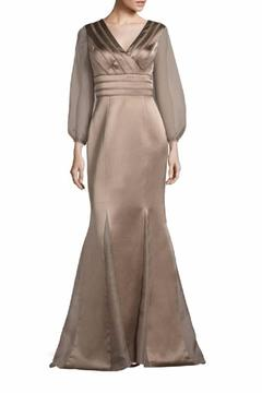 Kay Unger New York Sheer Sleeve Gown - Product List Image