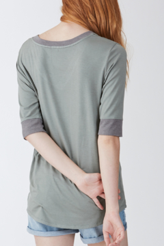 Another Love Kaydence V-Neck with Contrast Rib Tee - Alternate List Image
