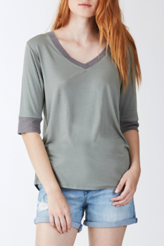 Another Love Kaydence V-Neck with Contrast Rib Tee - Product List Image