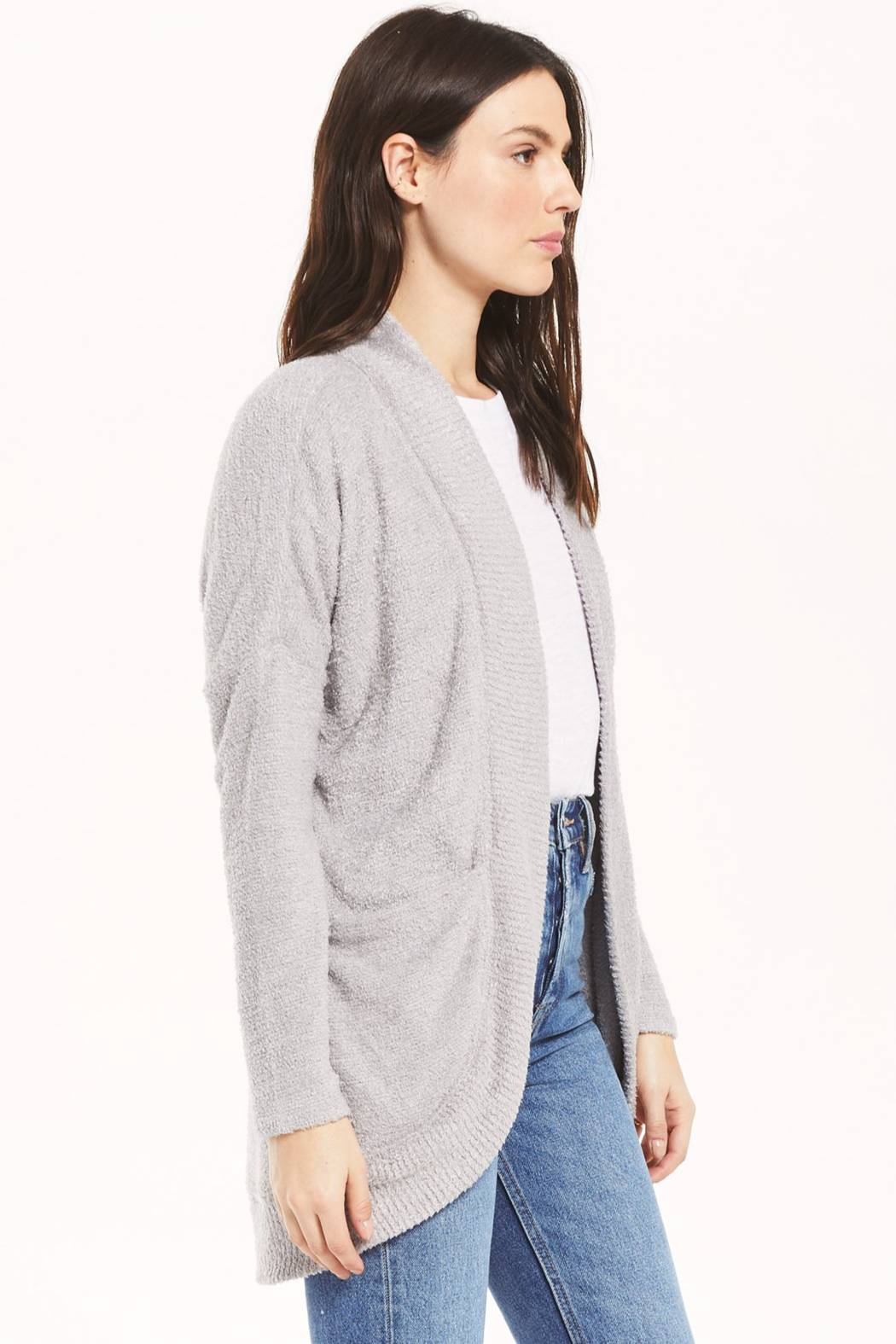 z supply Kaye Feather Cardigan - Side Cropped Image