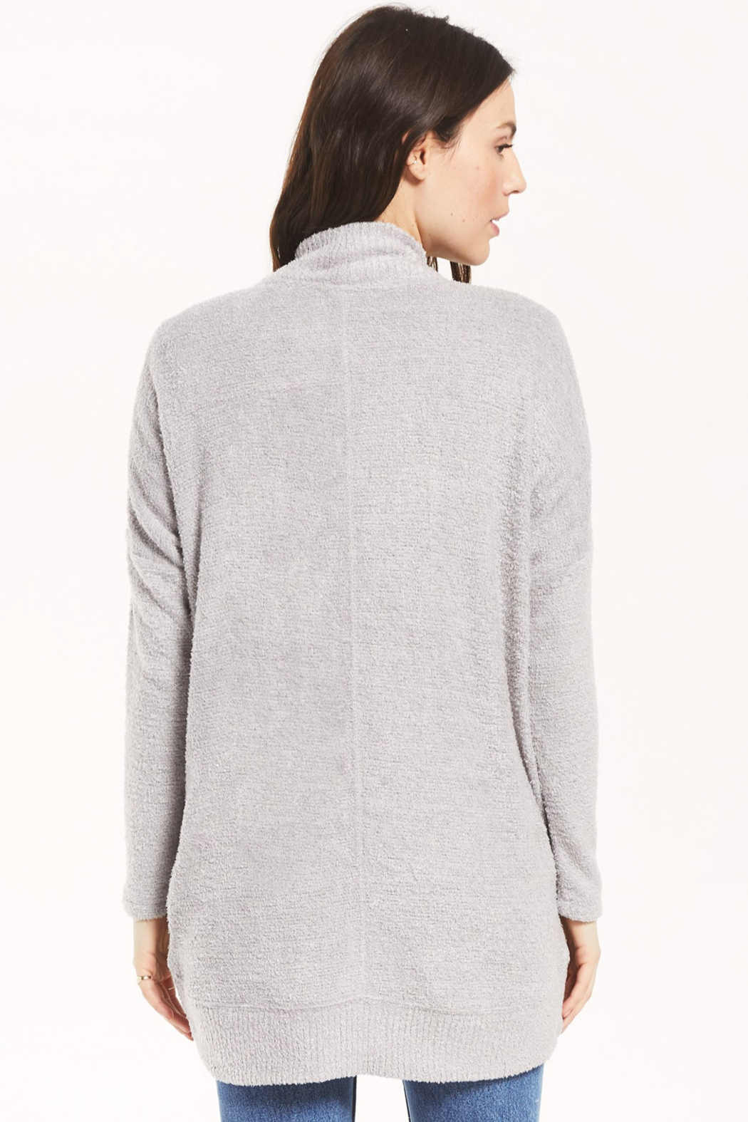 z supply Kaye Feather Cardigan - Back Cropped Image