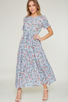LLove USA Kayla-Blue Floral Maxi - Product List Image