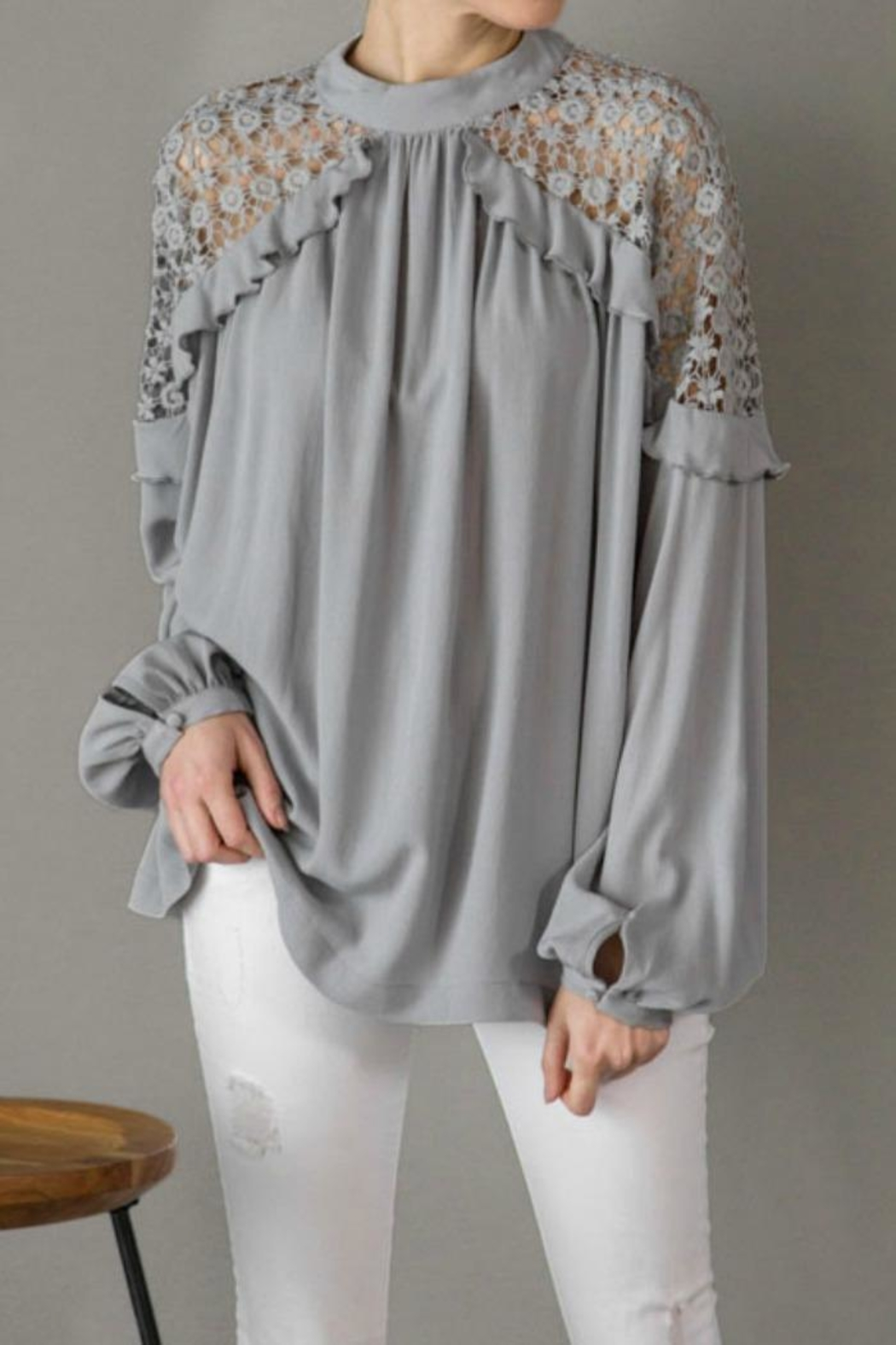 Kayla's Armoire Lace Detail Blouse - Main Image