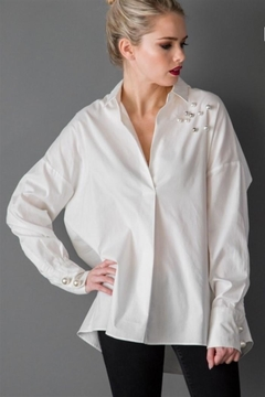 Kayla's Armoire Oversized Pearl Blouse - Product List Image