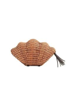 Shoptiques Product: Brown Seashell Clutch