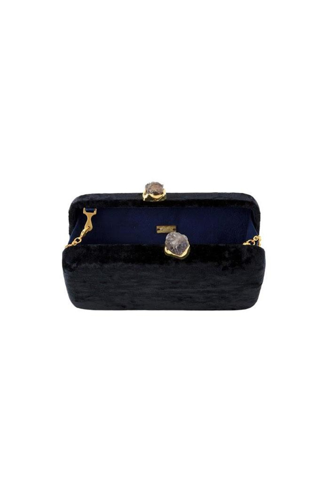 Kayu Margaux Black Clutch - Front Full Image