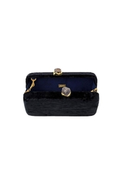 Kayu Margaux Black Clutch - Front full body