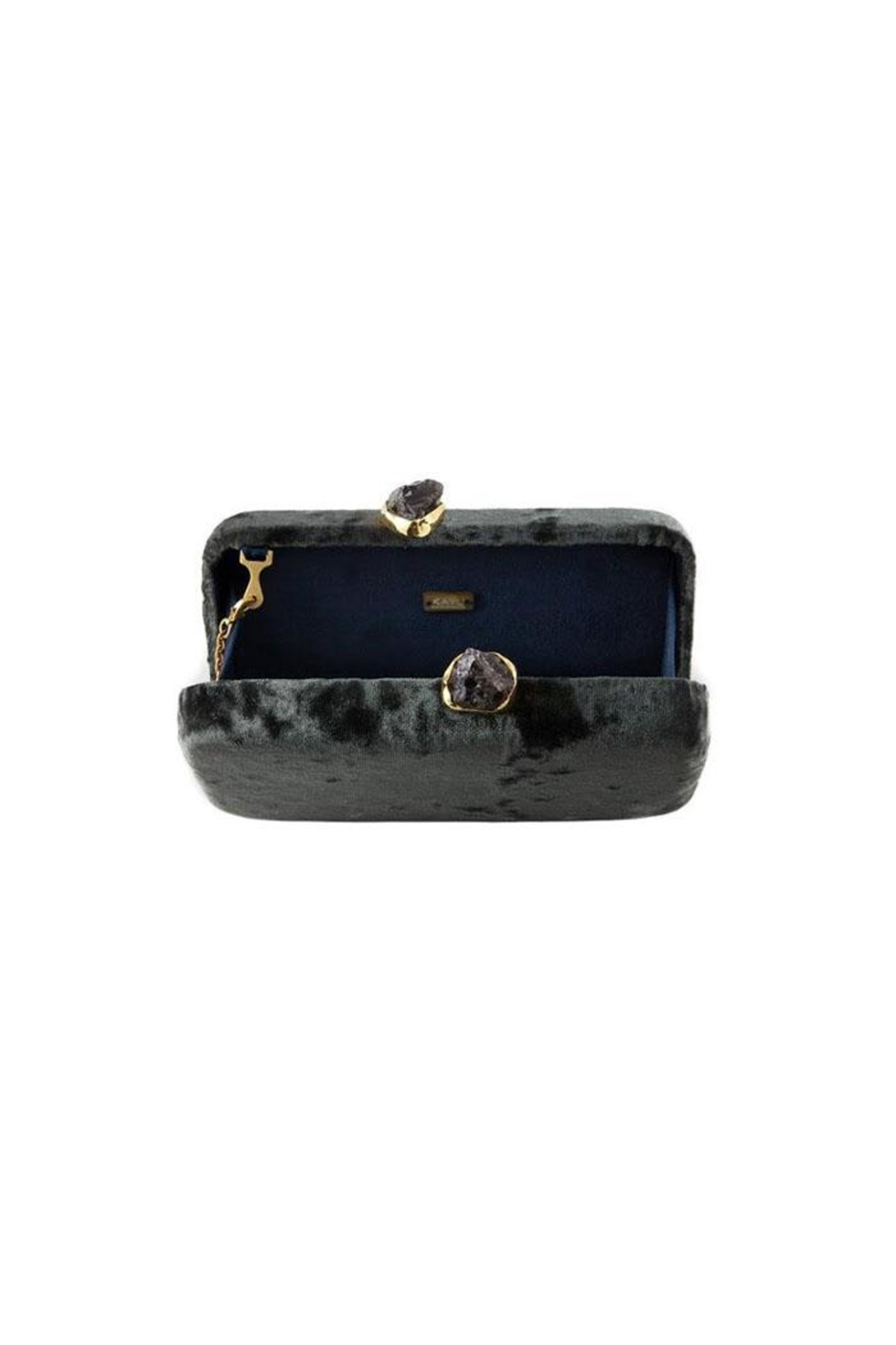 Kayu Margaux Silver Clutch - Side Cropped Image