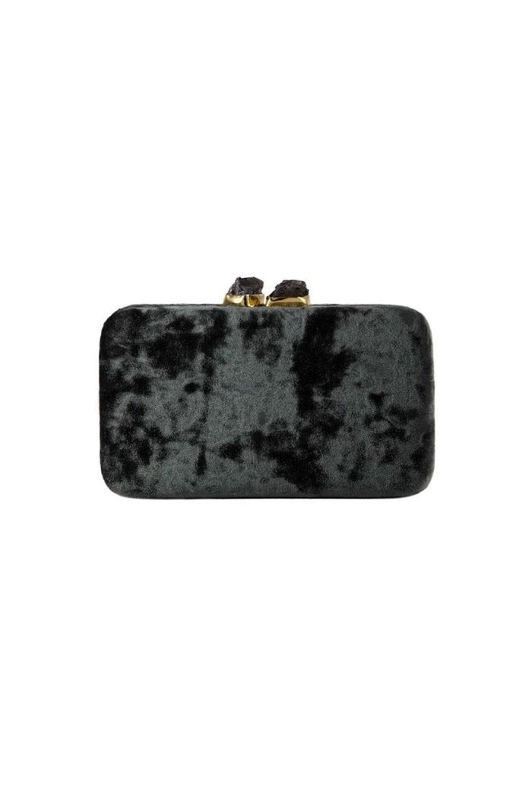 Kayu Margaux Silver Clutch - Front Full Image