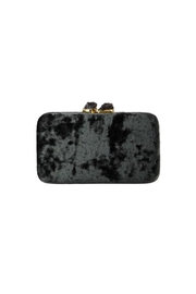 Kayu Margaux Silver Clutch - Front full body