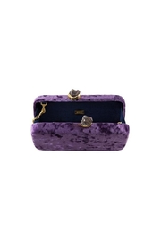 Kayu Margaux Velvet Clutch - Front full body